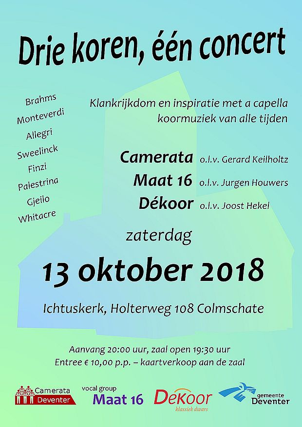 Driekorenconcert-flyer
